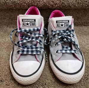 2 for $20! Gray and pink Converse